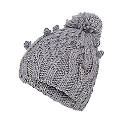 RJR.John Rocha - Grey knitted bobble hat
