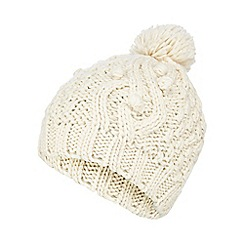 RJR.John Rocha - Cream knitted bobble hat
