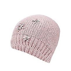 RJR.John Rocha - Pink jewel embellished beanie