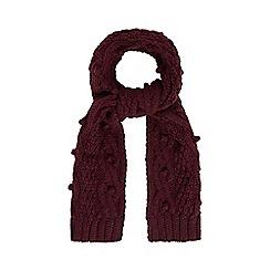 RJR.John Rocha - Plum bobble knit scarf