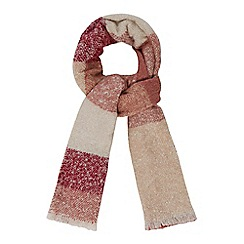 RJR.John Rocha - Pink boucle checked scarf