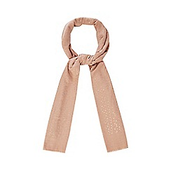 Mantaray - Light pink heart print scarf