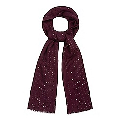 Mantaray - Dark red sequin scarf