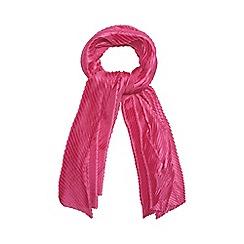 Mantaray - Dark pink pleated scarf