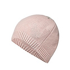 Mantaray - Pink snowflake embroidered beanie