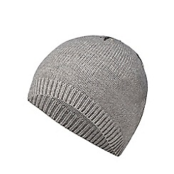Mantaray - Grey snowflake embroidered beanie
