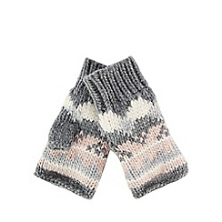 Mantaray - Multi-coloured chunky knit Fair Isle pattern hand warmers