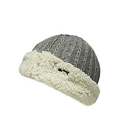 Mantaray - Grey cable knit hat with wool
