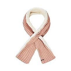 Mantaray - Pink knitted borg scarf