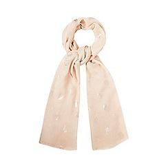Mantaray - Pink foiled acorn scarf