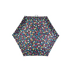 Totes - Supermini 3 section umbrella with a large raindrop print