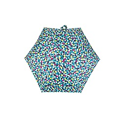Totes - Compact miniflat 5 section umbrella with a multi dots print