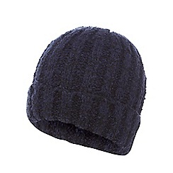The Collection - Navy boucle beanie