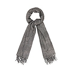 The Collection - Grey sparkle pleated scarf