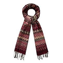 The Collection - Multi-coloured chevron print scarf