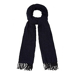 The Collection - Navy boucle scarf