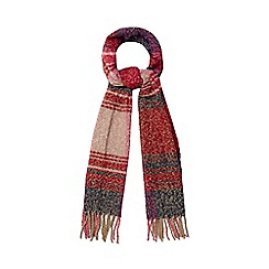 The Collection - Multi-coloured boucle checked scarf