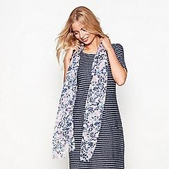 Mantaray - Ivory ditsy print scarf