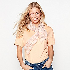 Mantaray - Light pink blossom print scarf