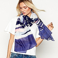 Mantaray - Multi-coloured painted stripe scarf