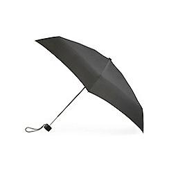 Totes - Black mini 5 section compact round umbrella