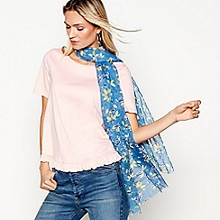 Mantaray - Blue bird print scarf