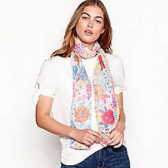 Mantaray - Multi-coloured floral print scarf