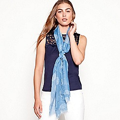 Mantaray - Blue 'Make A Wish' scarf