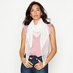 Mantaray - Ivory sequin 'Ibiza' scarf