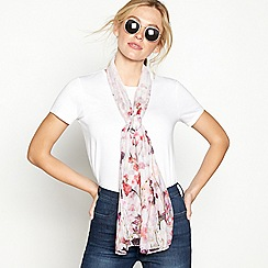Mantaray - Ivory floral print scarf