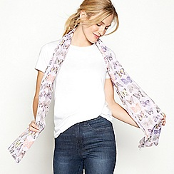 Mantaray - Lilac butterfly print scarf