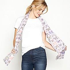Mantaray - Lilac butterfly print scarf