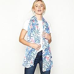Mantaray - Multicoloured tropical leaf print scarf