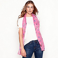 Mantaray - Pink butterfly print scarf