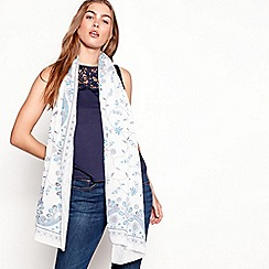 Mantaray - Blue paisley print scarf
