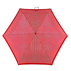 Totes - Red and white mesh print 'Supermini' umbrella