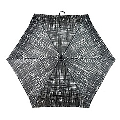 Totes - Black and white scribble print 'Supermini' umbrella