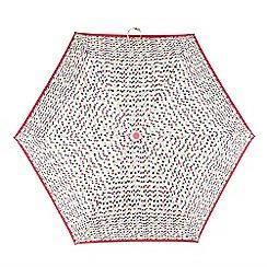 Totes - Multi-coloured chevron print 'Supermini' umbrella