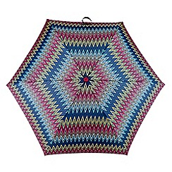 Totes - Multi-coloured weave print 'Supermini' umbrella