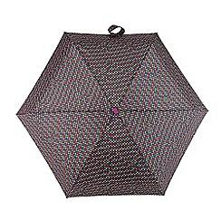 Totes - Multi-coloured foulard tile print 'Compact Miniflat' umbrella