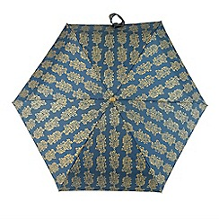 Totes - Multi-coloured paisley print 'Compact Miniflat' umbrella