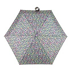 Totes - Multi-coloured ditsy floral print 'Compact Miniflat' umbrella