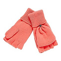 Faith - Pink knitted hooded glove