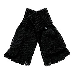 Faith - Black knitted hooded gloves