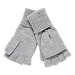 Faith - Grey knitted hooded gloves