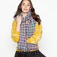 Faith - Blue colour pop tweed scarf