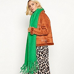 Faith - Green oversized woven scarf