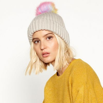 fbac7216ed0 Faith - Cream unicorn pom pom hat