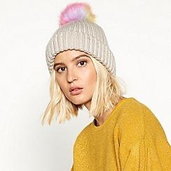 Faith - Cream unicorn pom pom hat
