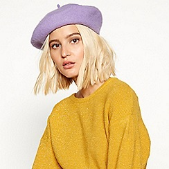 Faith - Lilac wool beret